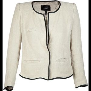 Isabel Marant Linen jacket with leather trim